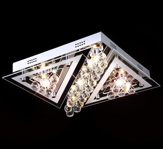 led design kristall glas deckenleuchte leuchte deckenlampe kronleuchter decken ebay. Black Bedroom Furniture Sets. Home Design Ideas