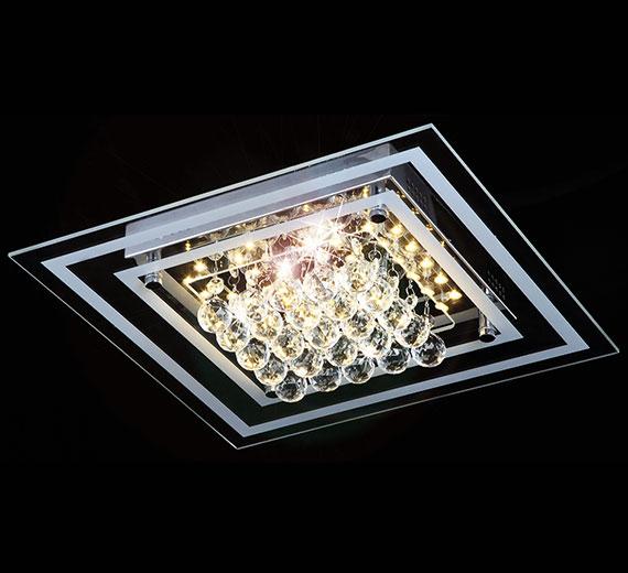24w led kristall deckenleuchte leuchte deckenlampe lampe deckenlicht beleuchtung ebay. Black Bedroom Furniture Sets. Home Design Ideas
