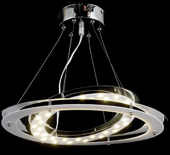 led deckenlampe deckenleuchte design wohnzimmer beleuchtung direkt 2 ringe 18w ebay. Black Bedroom Furniture Sets. Home Design Ideas