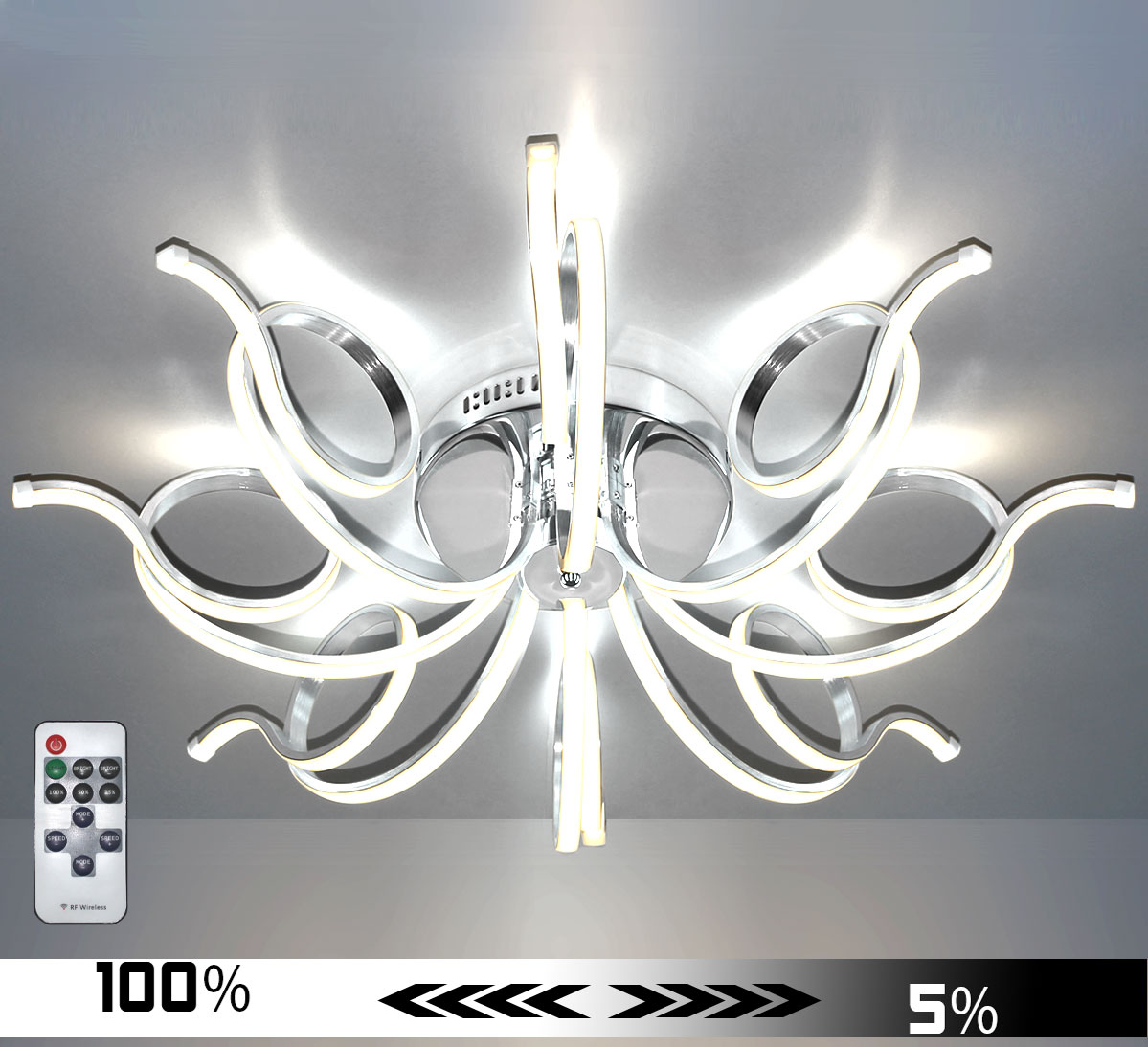 xxl led deckenlampe deckenleuchte kristall kronleuchter