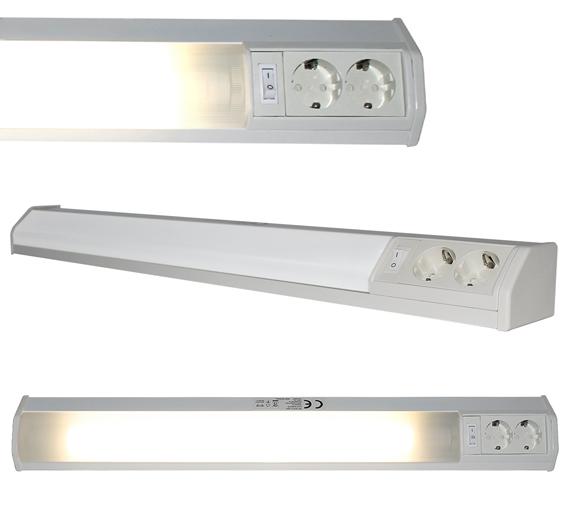 WL3021-9W  LED 9W Unterbauleuchte 754mm mit 2 Steckdosen