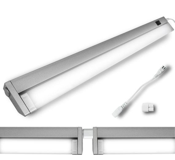LED 7-15W Schwenkkopf Unterbauleuchte 336mm-895mm Eckleuchte Lichtleiste
