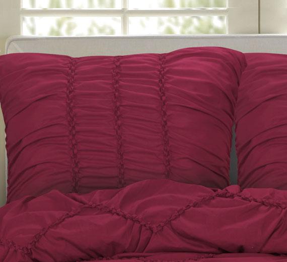 3d bett berwurf 240x260 tagesdecke berwurfdecke berdecke biesen luxus bordeaux ebay. Black Bedroom Furniture Sets. Home Design Ideas